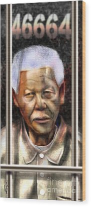 And God Remembered Prisoner 46664 Wood Print by Reggie Duffie