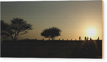 And The Day Ends Quietly.. Wood Print by Saurabh Shenai