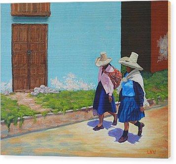 Andean Ladies Wood Print