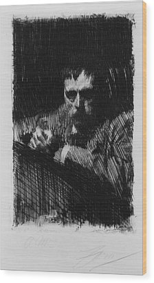 Anders Zorn 1860-1920, Swedish Wood Print by Everett