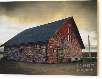 Anderson Barn At Dusk Wood Print