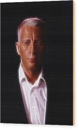 Anderson Cooper - Cnn - Anchor - News Wood Print by Lee Dos Santos