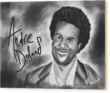 Andre Delano Wood Print by Kenal Louis