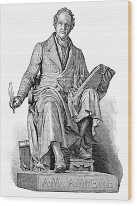 Andre-marie Ampere, French Physicist Wood Print by