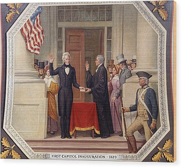 Wood Print featuring the photograph Andrew Jackson At The First Capitol Inauguration - C 1829 by International  Images