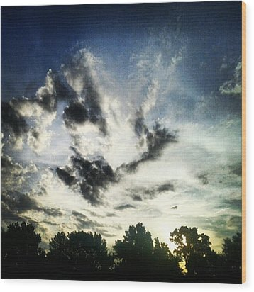 #andrography #nexuss #clouds #sky Wood Print by Kel Hill