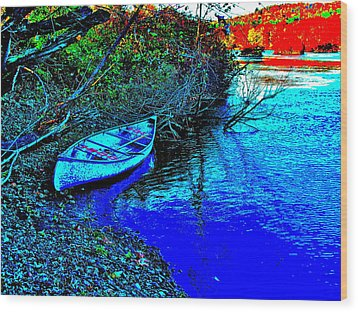 Andy River 17 Wood Print by George Ramos