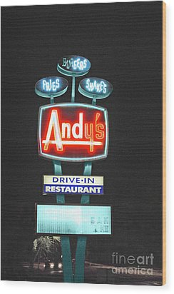 Andy's Drive-in Wood Print by Jost Houk
