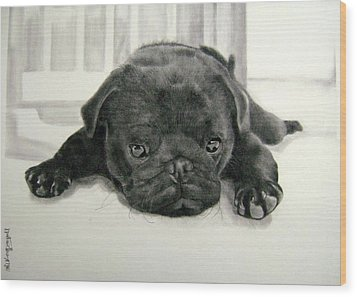 Andy's Puppy Wood Print