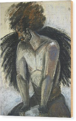 Angel Wood Print by Gabrielle Wilson-Sealy