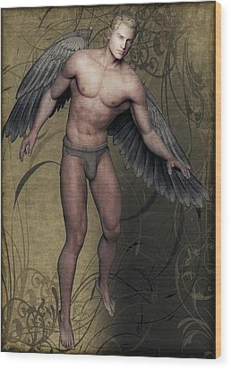 Wood Print featuring the painting Angel by Maynard Ellis