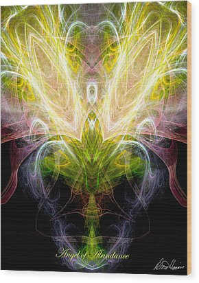 Angel Of Abundance Wood Print by Diana Haronis