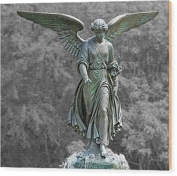 Angel Of The Waters Poster Wood Print