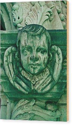 Angel Statue Wood Print