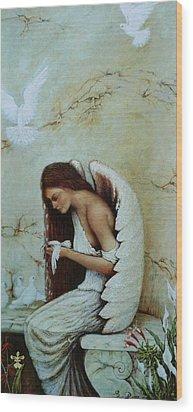 Angel Wood Print by Steven Wood