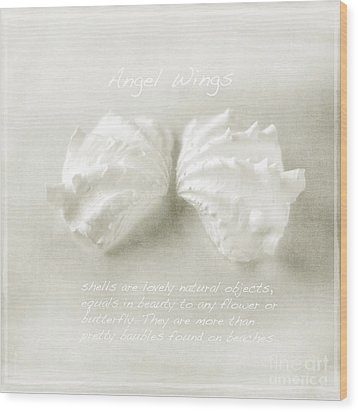 Angel Wings Wood Print by Linde Townsend