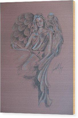 Angelica Wood Print by Vanderbill King