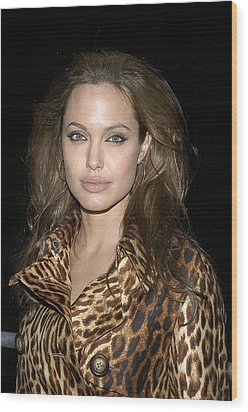 Angelina Jolie At Sharkspeare In The Wood Print by Everett