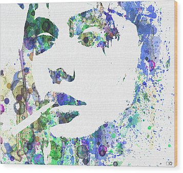 Angelina Jolie Wood Print by Naxart Studio