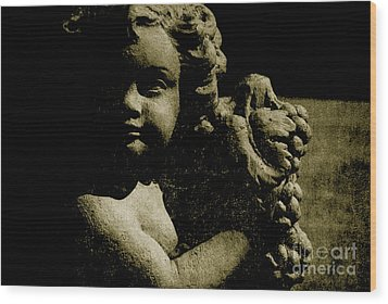Angelina My Little Angel Wood Print by Susanne Van Hulst