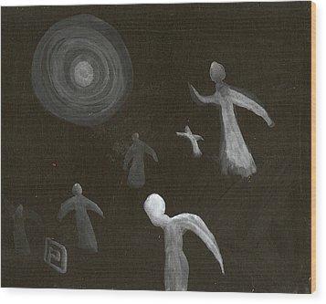 Angels In Flight Wood Print by Peter  McPartlin