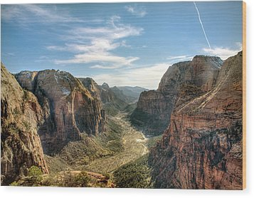 Angels Landing - Zion National Park Wood Print by Bryant Scannell