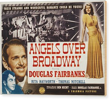 Angels Over Broadway, Thomas Mitchell Wood Print by Everett