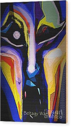 Anger Fcae Wood Print by Beltagy Beltagyb