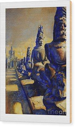 Angkor Wat Ruins Wood Print by Ryan Fox
