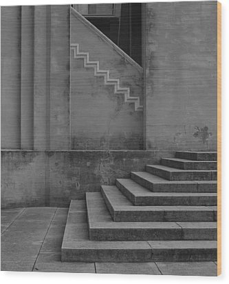 Angles Wood Print by David Mcchesney