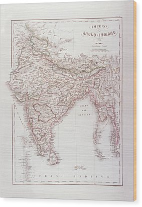 Anglo-indian Empire Wood Print by Fototeca Storica Nazionale