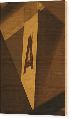 Angular A Wood Print by Artist Orange