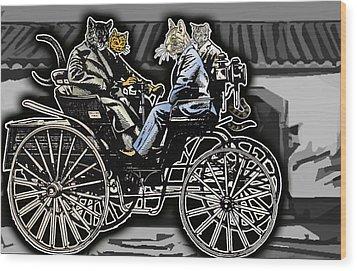 Animal Family 4 Wood Print by Travis Burns
