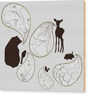 Animal Sounds Wood Print by Marcia Wood