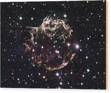 Animation Of A Supernova Explosion Wood Print by Harvey Richer