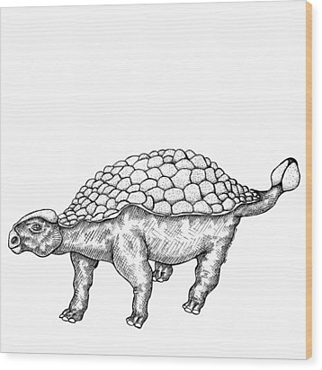 Ankylosaurus - Dinosaur Wood Print by Karl Addison