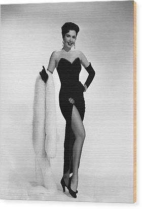 Ann Miller, Ca. 1950s Wood Print by Everett