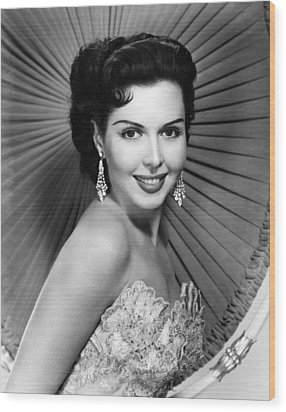 Ann Miller, Ca. Late 1940s Wood Print by Everett