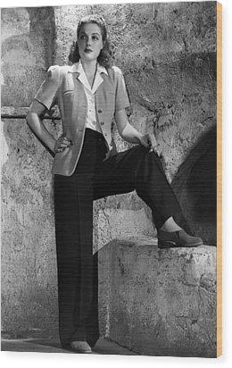 Ann Sheridan, Warner Brothers Portrait Wood Print by Everett