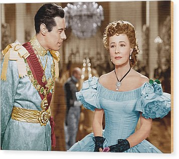 Anna And The King Of Siam, From Left Wood Print by Everett