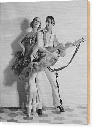 Anna Pavlova 1885-1931 Dancing Partner Wood Print by Everett