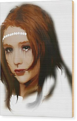Wood Print featuring the painting Anna by Susan  Solak