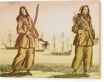 Anne Bonny And Mary Read, 18th Century Wood Print by Photo Researchers