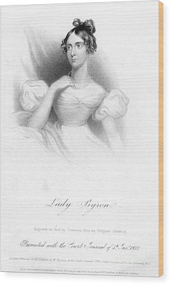 Anne Isabella Byron Wood Print by Granger