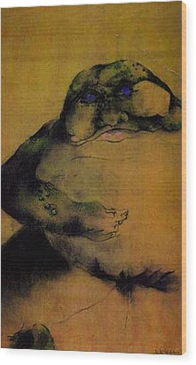 Annie's Toad Wood Print by Dede Shamel Davalos