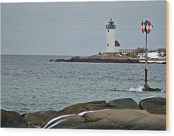 Annisquam Lighthouse Wood Print