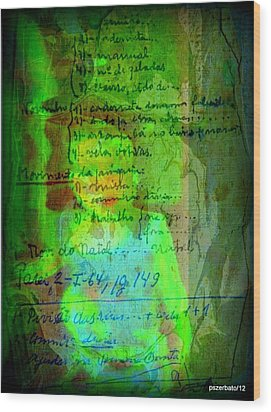 Annotations For A Life Wood Print by Paulo Zerbato