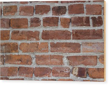 Another Brick In The Wall Wood Print by Heidi Smith