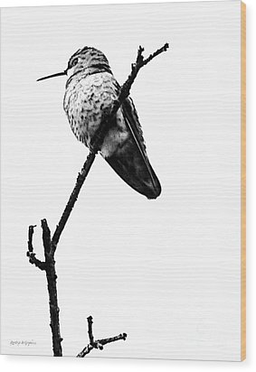 Wood Print featuring the digital art Another Little Bird by Rhonda Strickland