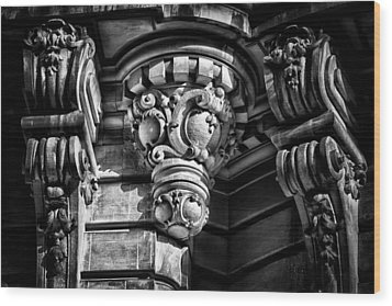 Ansonia Building Detail 12 Wood Print by Val Black Russian Tourchin